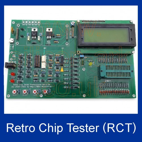 Retro Chip Tester (RCT)  Bare Boards -  IC test tool