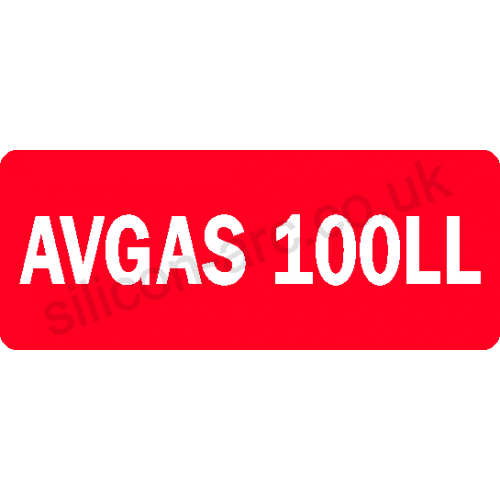 AVGAS laminated vinyl label type 1