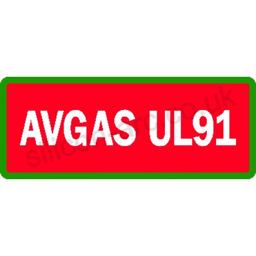 AVGAS UL91 laminated vinyl label type 2