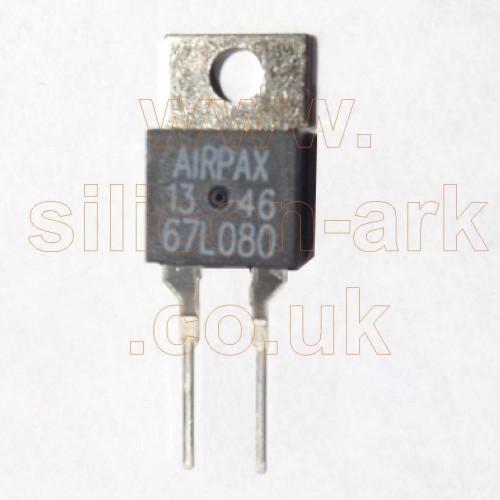 67L080  80ºc thermostat - Airpax