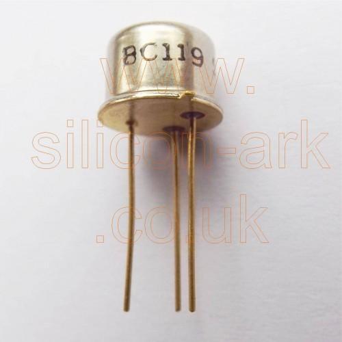 BC119 silicon NPN transistor - SGS Thomson
