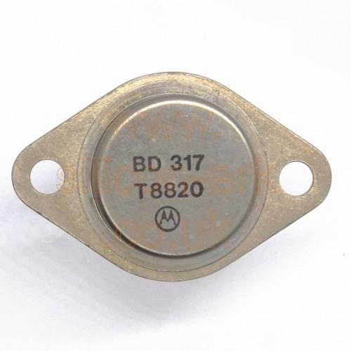 BD317  silicon NPN transistor - Motorola
