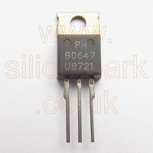 BD647 silicon NPN darlington transistor - Philips