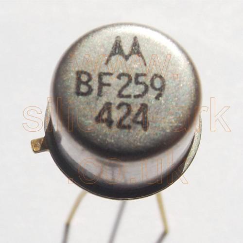 BF259 silicon NPN transistor - Motorola