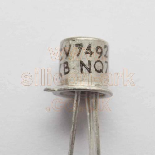 CV7492 silicon NPN transistor -Texas Instruments