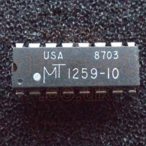 1259-10 (MT1259-10) 256K 100nS DRAM memory - Micron Technology