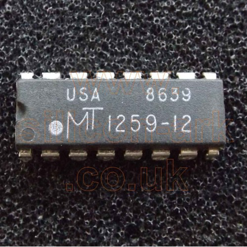 1259-12 (MT1259-12) 256K 120nS DRAM memory - Micron Technology