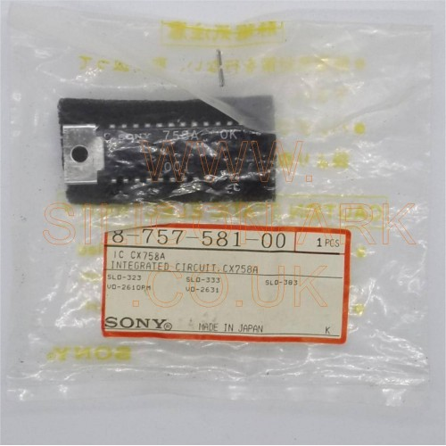 CX758A  Integrated Circuit  (8-757-581-00) - Sony