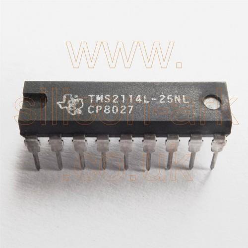 2114  (TMS2114-25NL)  4096-bit (1024x4)  Static RAM - Texas Instruments