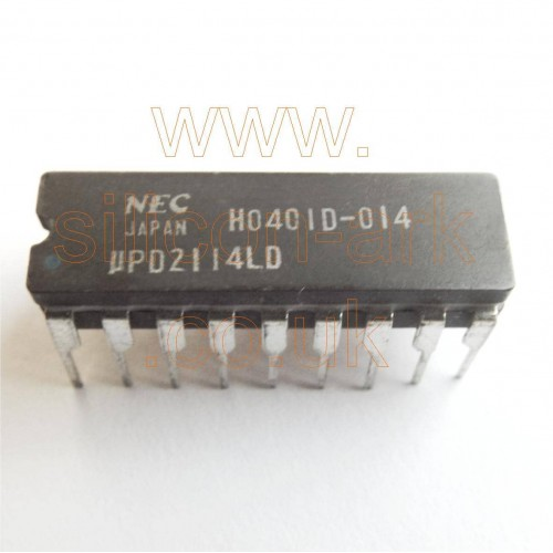 2114  (uPD2114LD)  4K (1024x4)  Static RAM - NEC
