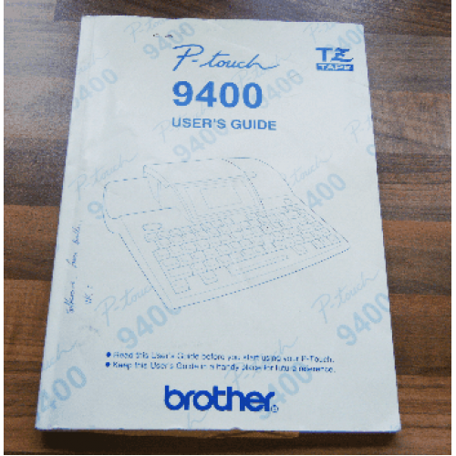 Brother P-touch 9400 users guide
