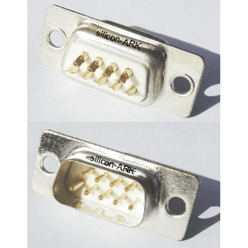 D-Sub 9-way plug - solder bucket - RS Components