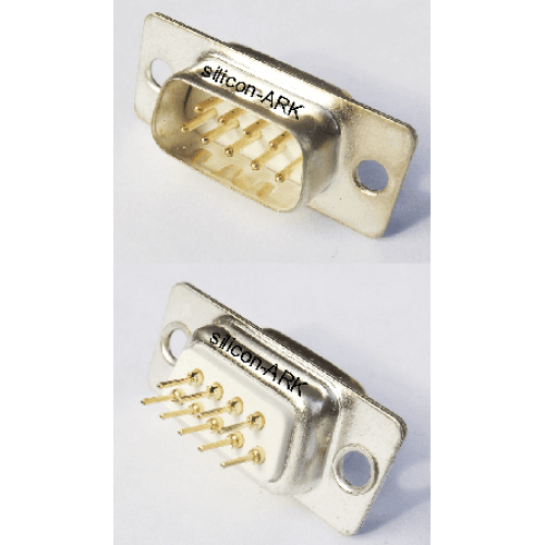 D-Sub 9-way plug straight pcb mount - RS Components