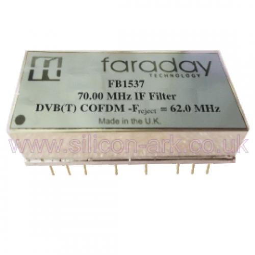 FB1537  70.0 MHz DVB(T)  IF filter - Faraday Technologies