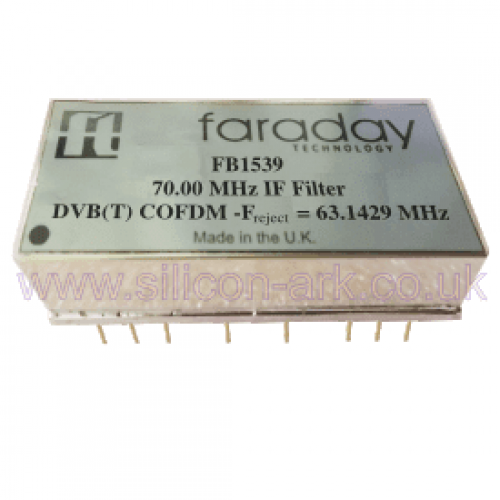 FB1539  70.0 MHz DVB(T)  IF filter - Faraday Technologies