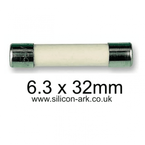500ma 250V ceramic fuse (326 -slow acting)  6.3 x 32mm - Littelfuse