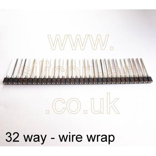 wire wrap S.I.L socket strip 32-way