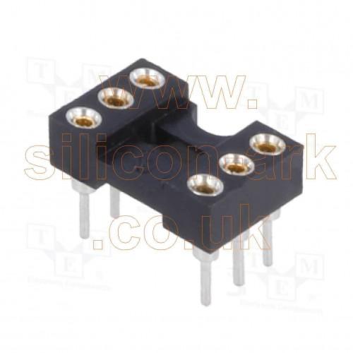 IC Socket 6 pin DIL  turned pin
