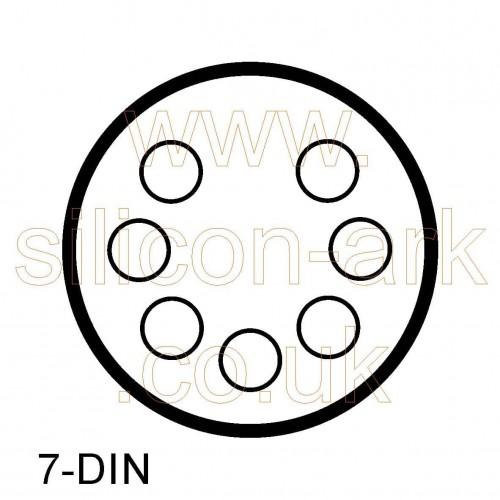 7-pin pcb mount DIN socket