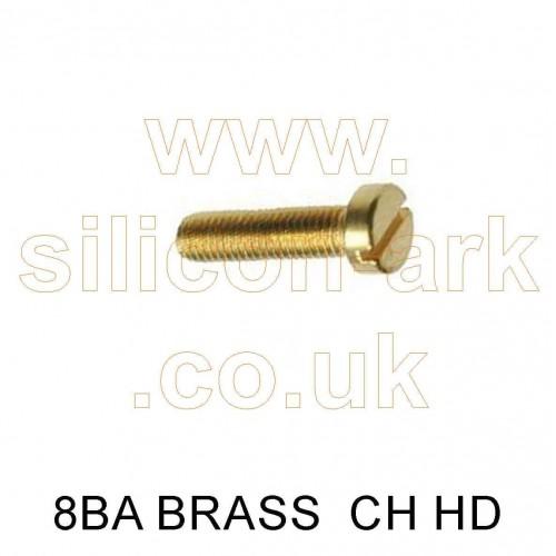 "8BA x 3/16"" brass cheese head screw (pack of 25)"
