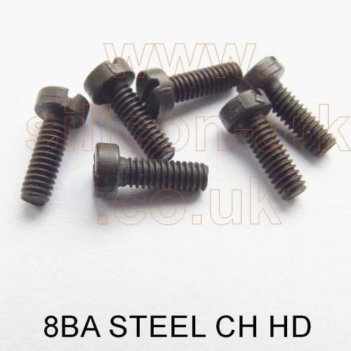 """8BA x 1/4"""" steel cheese head screw (pack of 25)"""