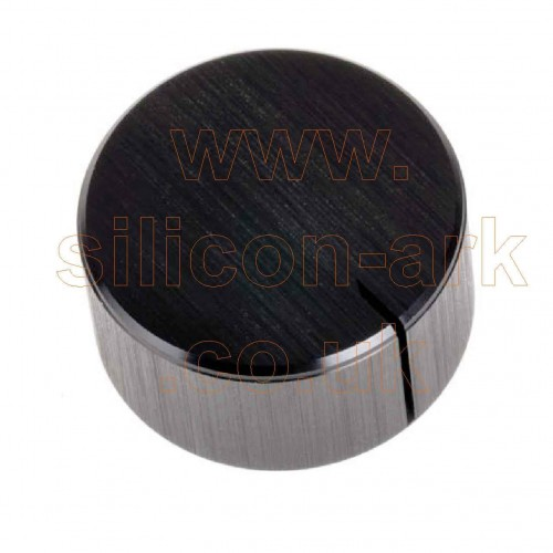 Black anodised knob (RS498-823) - RS Components