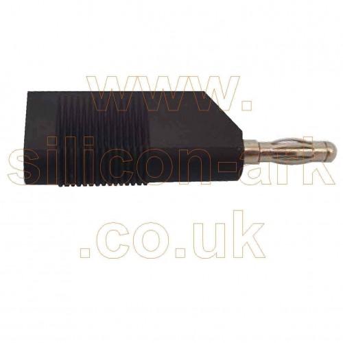 Banana plug - 4mm black stackable (A-1.118-B) - Multicomp
