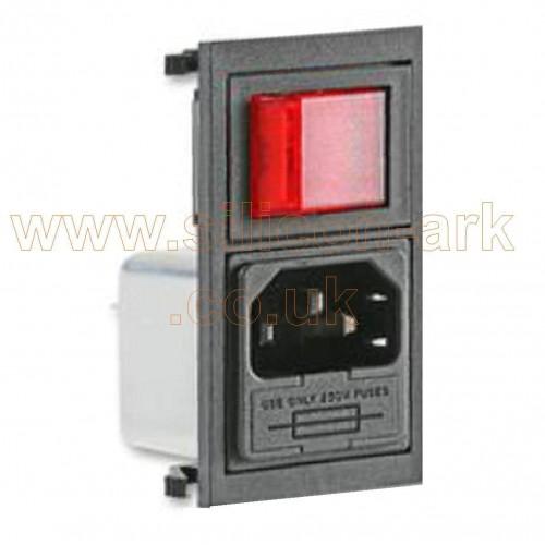 C14 IEC Panel mount Plug (BZV01/A0620/11) - Bulgin