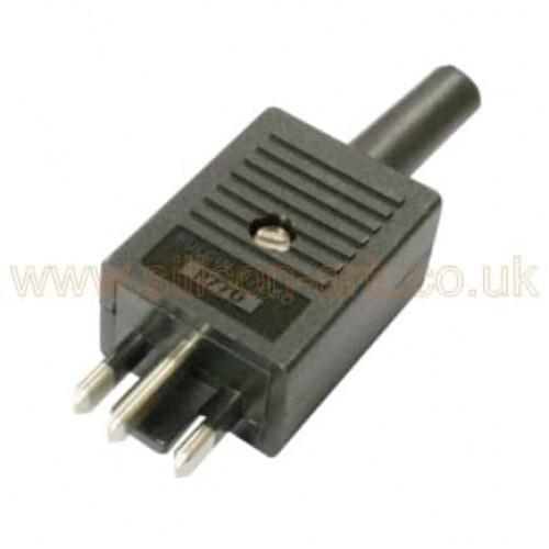 6/250 P770 3 pin un-shrouded plug - Bulgin