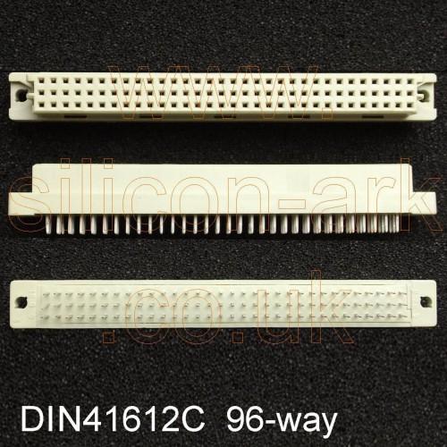 DIN 41612  96-Way Type-C  socket Connector