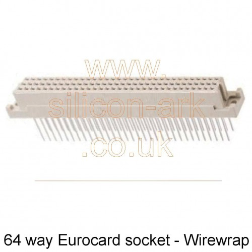 64-way Eurocard socket DIN41612  wirewrap (RS471-468) - RS Components