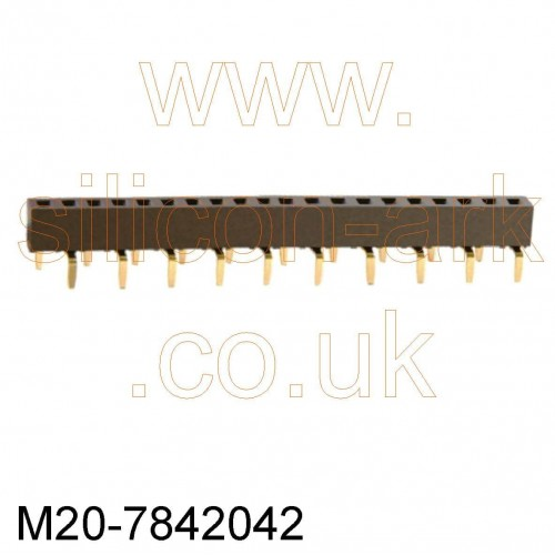 20-Way socket strip (M20-7842042) - Harwin