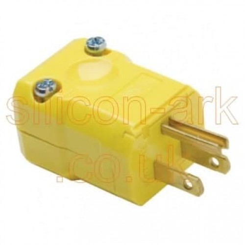 2 pole 3 wire 125V 15A plug (HBL5965VY) - Hubbell