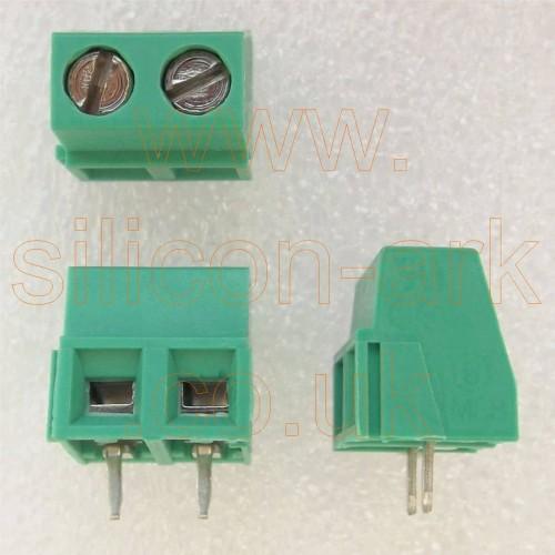 Terminal Block 2-way PCB 5mm pitch (MSB02001)- Hitaltech