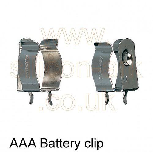 AAA Cell PCB Battery Clip (82) - Keystone