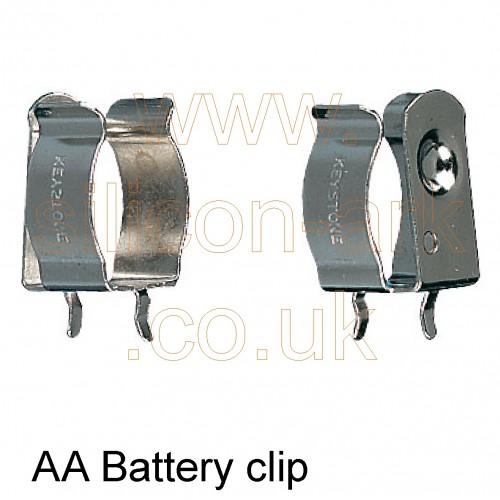 AA Cell PCB Battery Clip (82) - Keystone