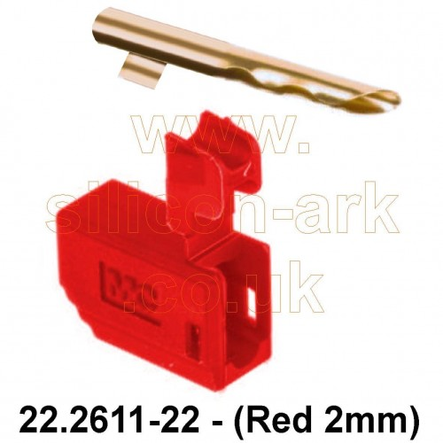 Banana plug - 2mm Red male  (22.2611-22) - Multi-Contact