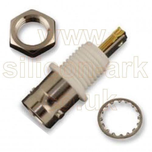 BNC isolated bulkhead Straight Jack (MC23557) - Multicomp