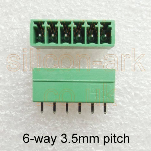 6-way straight PCB header (MCV 1.5/6-G-3.5) - Phoenix Contact