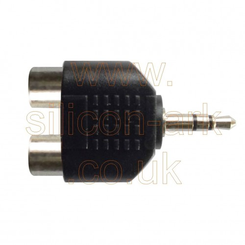 2 x Female Phono (RCA)  to male 3.5mm stereo jack adaptor