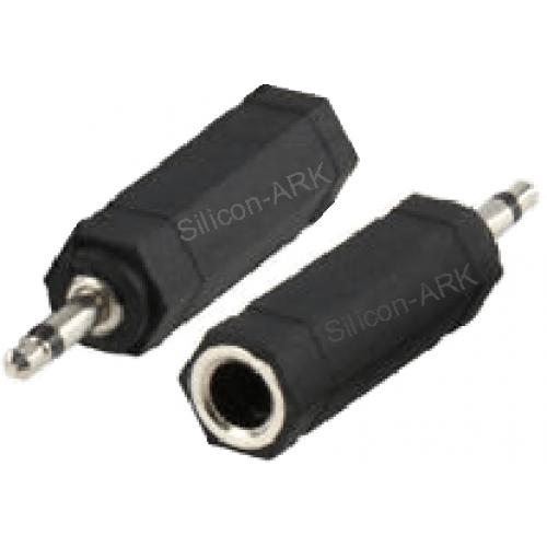 6.35 mm stereo jack socket to 3.5mm jack plug adapter