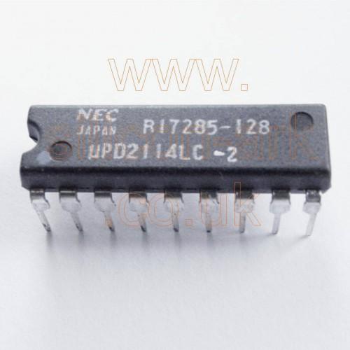 2114  (uPD2114LC-2)  4096-bit (1024x4)  Static RAM - NEC