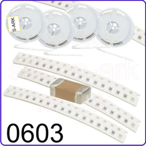 270pF 50V  5%  0603 surface mount capacitor - TDK
