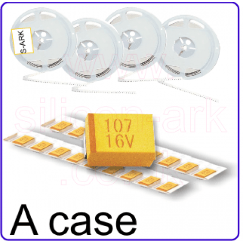 1uF 25V  10% tantalum (surface mount) - NEC Tokin
