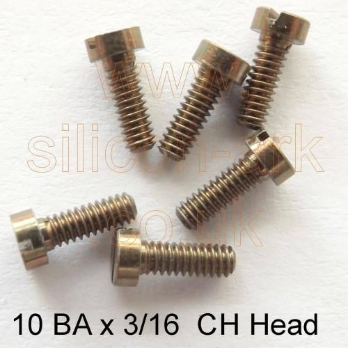 """10BA x 3/16"""" steel cheese head screw (pack of 25)"""