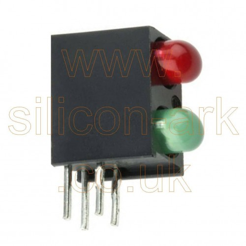 Green & Red PCB LED indicator (553-0112F) - Dialight