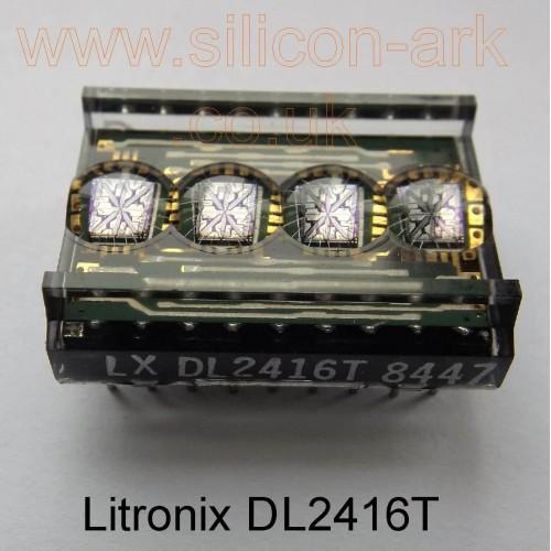 """DL2416T  .160"""" red intelligent 4 digit display - Litronix"""