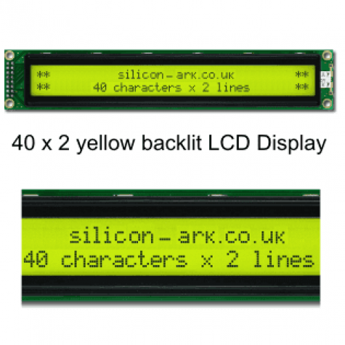 40 character x 2 LCD  display (CM4020) - Image Data