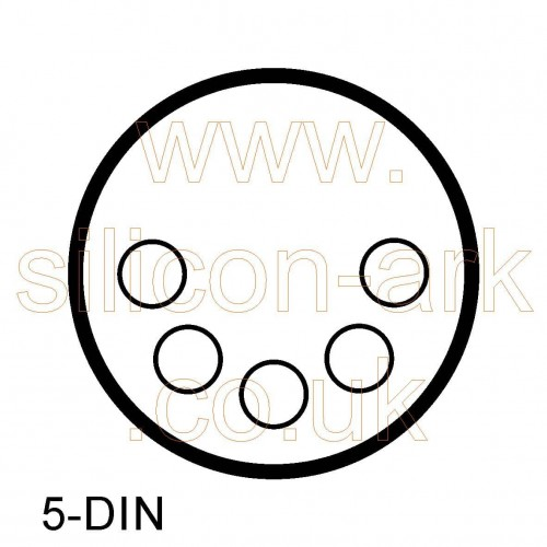 DIN chassis socket 5-way shielded