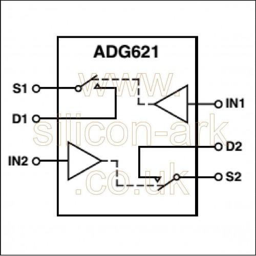 ADG621 (ADG621BRM) dual SPST switch - Analog Devices